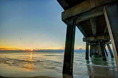 Pier Digital Art - Under The Pier by Michael Thomas