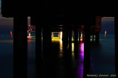 Photograph - Under The Pier by Richard Zentner