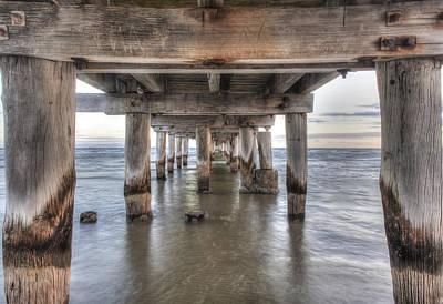 Under The Pier Print by Shari Mattox