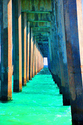 Photograph - Under The Pier Too by Vonda Barnett