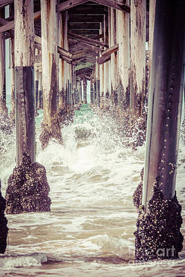 Orange County Photograph - Under The Pier Vintage California Picture by Paul Velgos