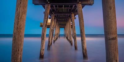 Photograph - Under The Pier - Wide Version by Mark Robert Rogers
