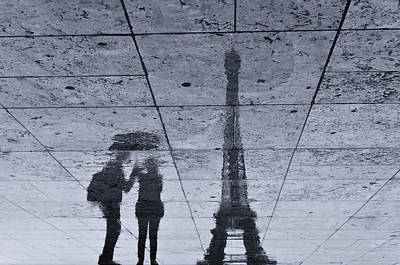 Eiffel Tower Photograph - Under The Rain In Paris by