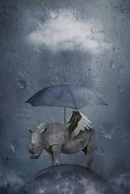 Waterdrops Wall Art - Photograph - Under The Rain by Muriel Vekemans