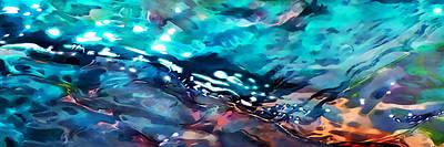 Under The Rocks Panoramic Print by Terril Heilman