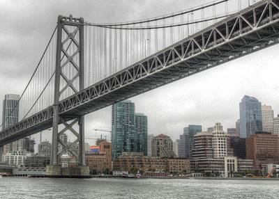 Under The San Francisco Bay Bridge Art Print
