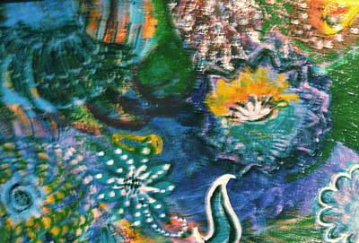 Under The Sea Blue Dreams Art Print by Anne-Elizabeth Whiteway