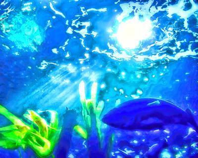 Under The Sea Illumination Art Print by Tracie Kaska