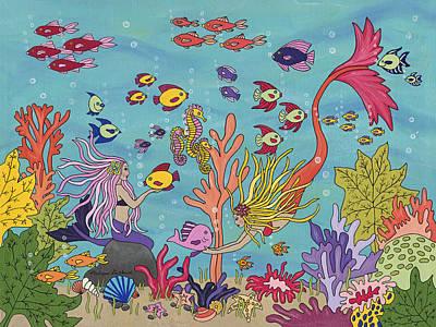 Mermaid Painting - Under The Sea by Medana Gabbard