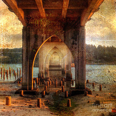 Photograph - Under The Siuslaw River Bridge by Charlene Mitchell