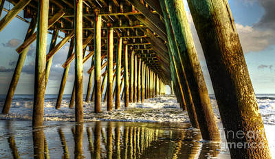 Photograph - Under The Springmaid Pier by Kathy Baccari