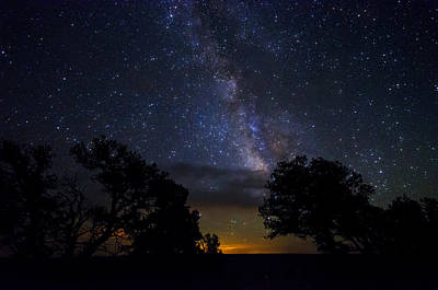 Photograph - Under The Stars At The Grand Canyon  by Saija  Lehtonen