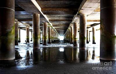 Under The Steel Pier Art Print
