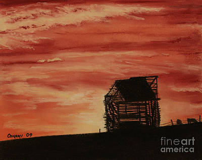 Art Print featuring the painting Under The Sunset by Stanza Widen