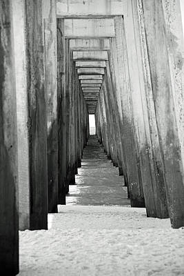 Under The The Pier Art Print by Thomas Fouch