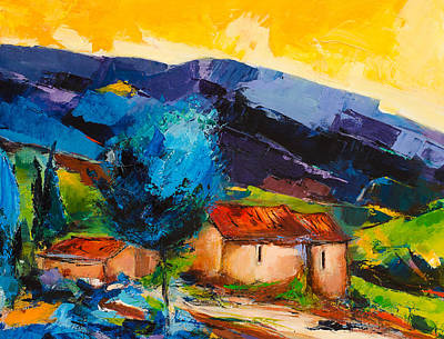 Painting - Under The Tuscan Sky by Elise Palmigiani