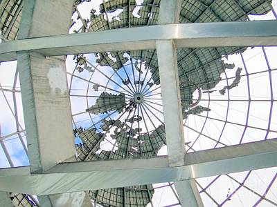 Under The Unisphere Art Print by Ed Weidman