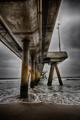 Photograph - Under The Venice Beach Pier by Robert Woodward
