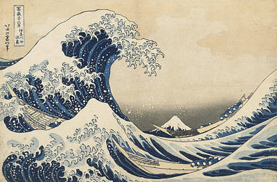 Crash Painting - Under The Wave Off Kanagawa by Hokusai