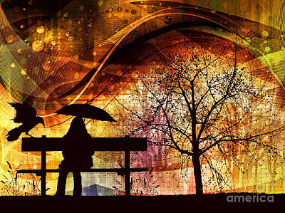 Corvid Digital Art - Under The Weather by Putterhug  Studio