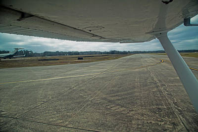 Runway Photograph - Under The Wing by Betsy Knapp