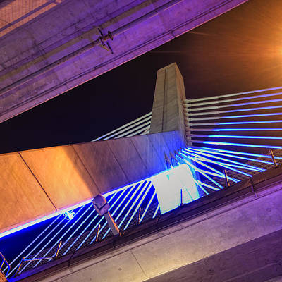 Photograph - Under The Zakim 2 - Boston by Joann Vitali