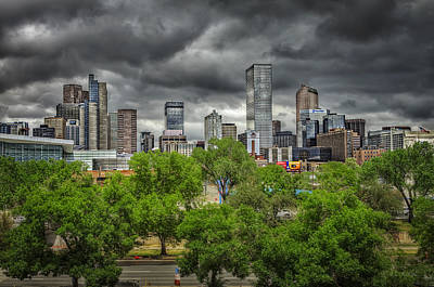 Denver Skyline Photograph - Under Tornado Watch by Medicine Tree Studios