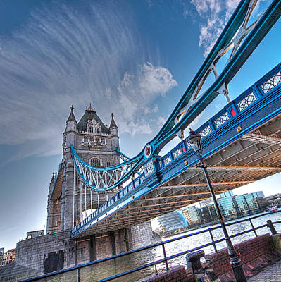 Photograph - Under Tower Bridge London by Gill Billington