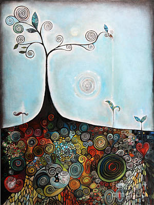 Tree Roots Painting - Under World by Manami Lingerfelt
