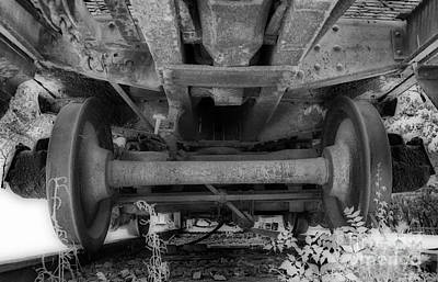 Of Trains Photograph - Undercarriage by Skip Willits