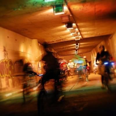 Bicycles Wall Art - Photograph - Underground Bikers - Sao Paulo by Carlos Alkmin