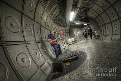 Subway Art Photograph - Underground Blues by Yhun Suarez
