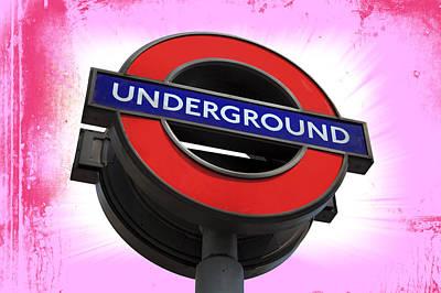 London Tube Digital Art - Underground London by Daniel Hagerman