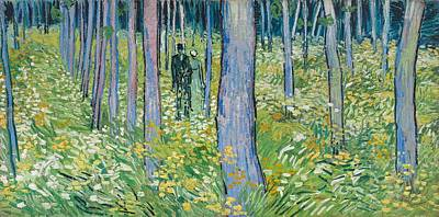 Undergrowth With Two Figures, 1890  Art Print by Vincent van Gogh