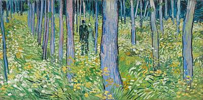 Cincinnati Painting - Undergrowth With Two Figures by Vincent van Gogh