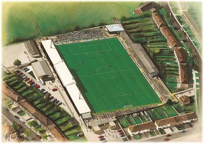 Sports Paintings - Underhill Stadium - Barnet by Kevin Fletcher