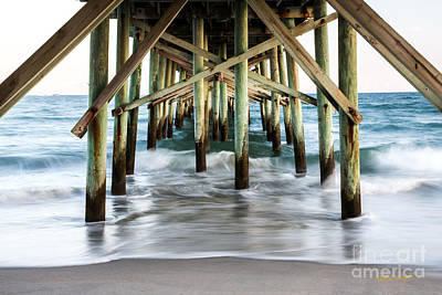 Photograph - Underneath Jolly Roger Pier 2014 by Matthew Turlington