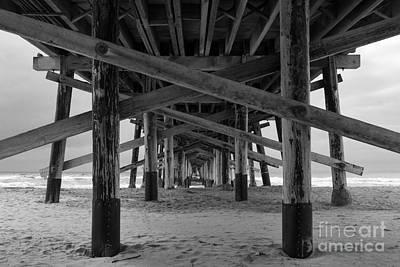 Photograph - Underneath Newport Beach Pier by Ana V Ramirez