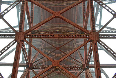 Photograph - Underneath The Golden Gate Bridge by Bill Owen