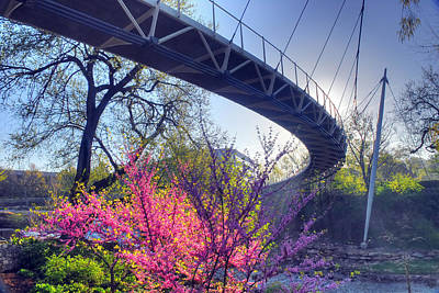 Underneath The Liberty Bridge In Downtown Greenville Sc Art Print