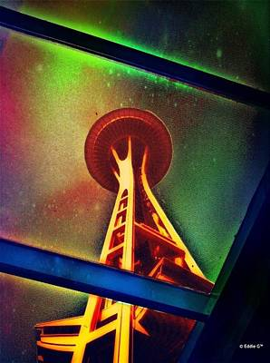 Manipulation Photograph - Underneath The Space Needle by Eddie G