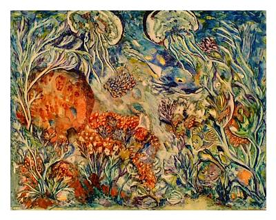 Painting - Undersea Friends by Kim Shuckhart Gunns