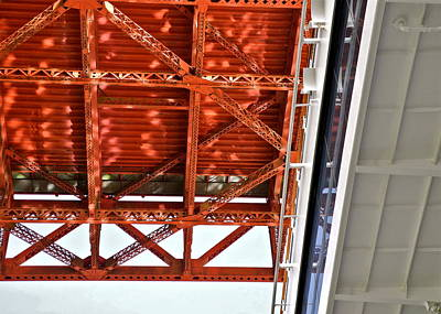Strau Photograph - Underside Of The Golden Gate Bridge by Kirsten Giving