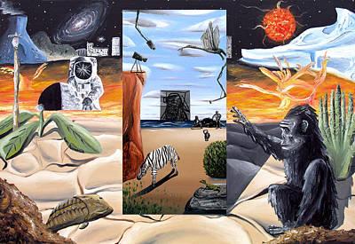 Art Print featuring the digital art Understanding Everything Full by Ryan Demaree