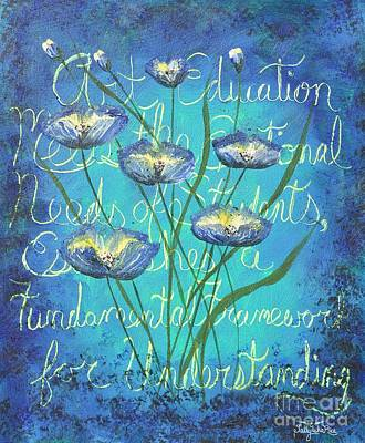 Understanding Art Print by Sally Rice