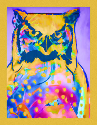 Kaleidoscopic Photograph - Understated Owl by Carol Leigh