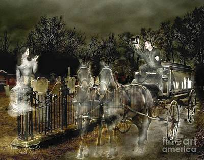 Grave Yard Digital Art - Undertaker by Tom Straub