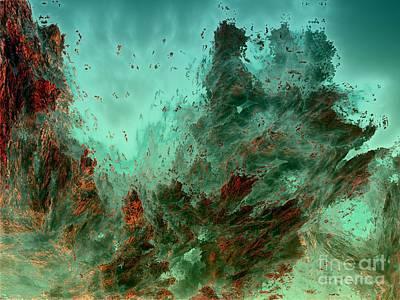 Digital Art - Underwater 9 by Bernard MICHEL