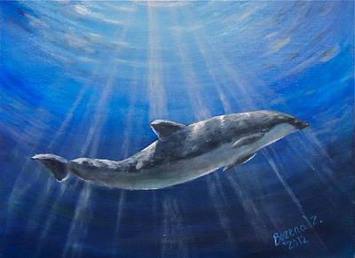 Painting - Underwater by Bozena Zajaczkowska