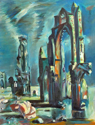 Painting - Underwater Cathedral By Chris by Chris McCullough